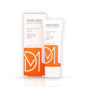 کرم ضد آفتاب بدون رنگ SPF50 درمومدیک (DERMO MEDIC)