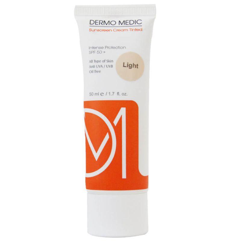 کرم ضد آفتاب رنگ روشن درمومدیک (DERMO MEDIC)