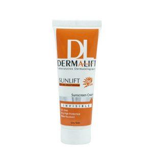 کرم ضد آفتاب پوست خشک بی رنگ درمالیفت (Dermalift)