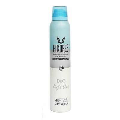 اسپری خوشبوکننده زنانه دی اند جی فیکورس FIKORES D & G Light Blue