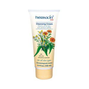 کرم پاک کننده صورت و گردن تیوپی هرباسین (Herbacin)