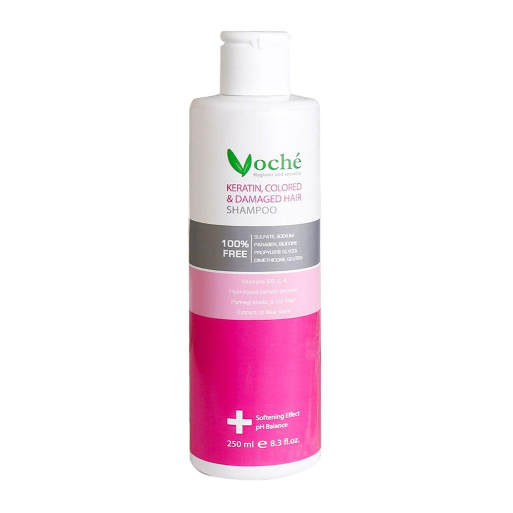 شامپو کراتینه مناسب موهای رنگ شده و آسیب دیده وچه (VOCHE)