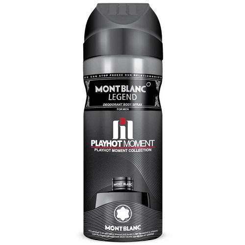 دئودورانت مردانه پلی هات مومنت مدل MontBlanc Legend