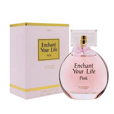 ادکلن ادو پرفیوم زنانه پاریس بلو مدل اینچنت یور لایف صورتی Paris Bleu Enchant Your Life Pink Women Edp 100