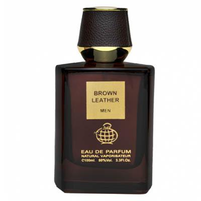 ادکلن مردانه فراگرنس ورد برون لدر Fragrance World Brown Leather Men EDP 100 ml