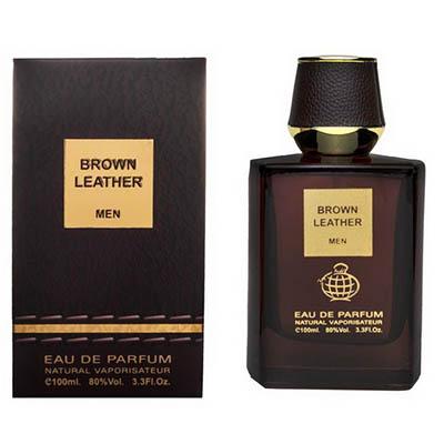 ادکلن مردانه فراگرنس ورد برون لدر Fragrance World Brown Leather Men EDP 100