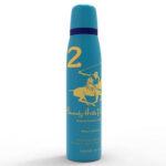 اسپری دئودورانت زنانه بورلی هیلز پولو کلاب شماره دو BEVERLY HILLS POLO CLUB Number 2 Women Deodorant Spray