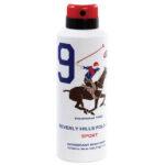 اسپری دئودورانت مردانه بورلی هیلز پولو کلاب شماره نه BEVERLY HILLS POLO CLUB Number 9 Deodorant Spray