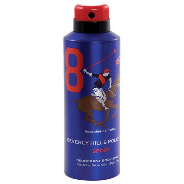 اسپری دئودورانت مردانه بورلی هیلز پولو کلاب شماره هشت BEVERLY HILLS POLO CLUB Number 8 Deodorant Spray