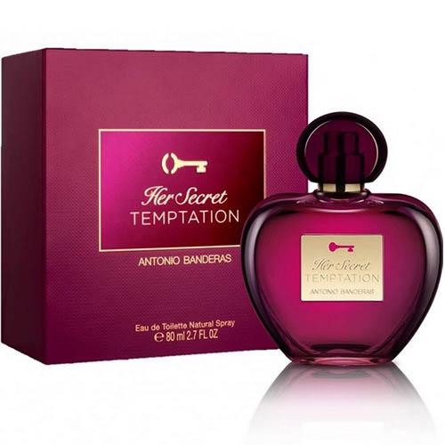 ادکلن و ادو تویلت زنانه آنتونیو باندراس هر سکرت تمپتیشن Antonio Banderas Her Secret Temptation Eau De Toilette For Women 80ml