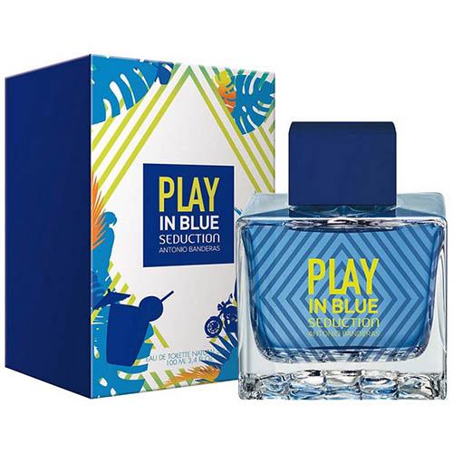 ادکلن و ادو تویلت مردانه آنتونیو باندراس مدل پلی این بلو Antonio Banderas Play In Blue Seduction Eau De Toilette For Men 100ml