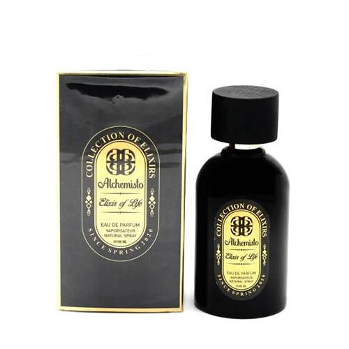 ادکلن و ادو پرفیوم زنانه آلکمیستو مدل اکسیر آف لایف (زندگی) ALCHEMISTO Elixir of Life Eau De Parfum For men 100ml