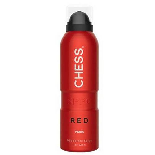 اسپری مردانه پاریس بلو مدل چس رد (شطرنج قرمز) Paris Bleu Chairman Blue Deodorant Spray for Men 200ml