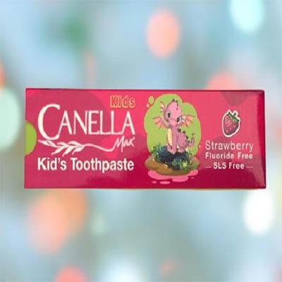 خمیر دندان کودک توت فرنگی کنلامکس Canella Max Strawberry Kid's Toothpaste 60
