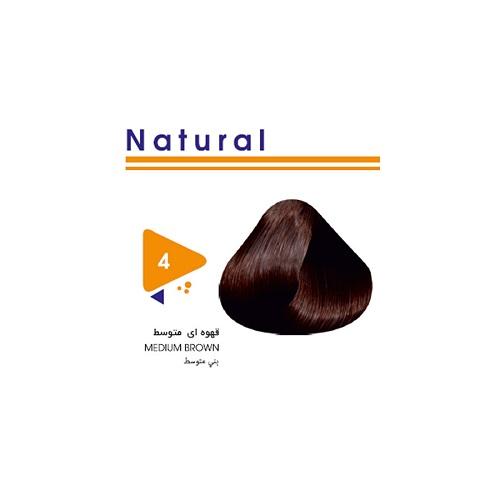 رنگ مو طبیعی قهوه ای متوسط ویتامول