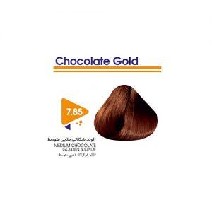 رنگ مو بلوند طلایی شکلاتی متوسط ویتامول