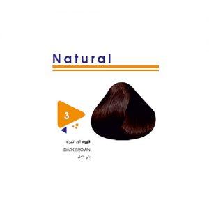 رنگ مو طبیعی قهوه ای تیره ویتامول