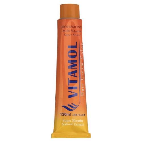 رنگ مو طلایی قهوه ای روشن ویتامول