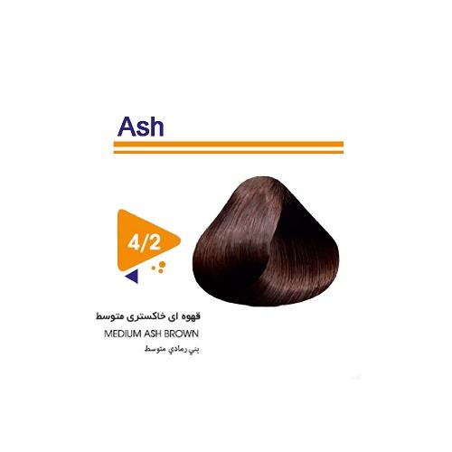 رنگ مو قهوه ای خاکستری متوسط ویتامول
