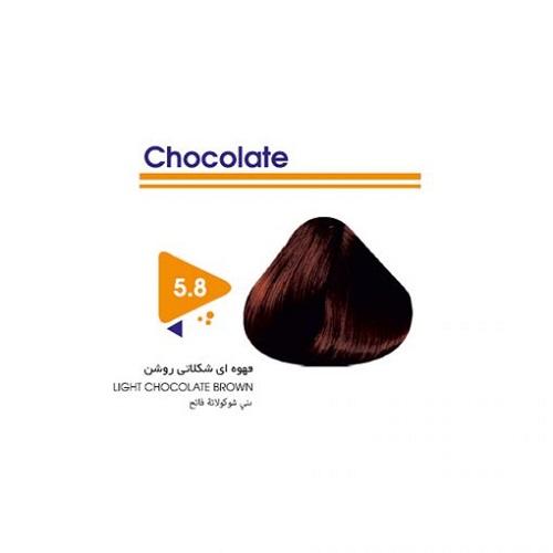 رنگ مو قهوه ای شکلاتی روشن ویتامول
