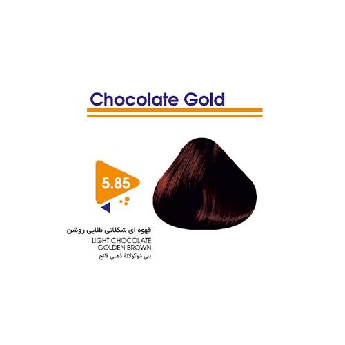 رنگ مو قهوه ای شکلاتی طلایی روشن ویتامول