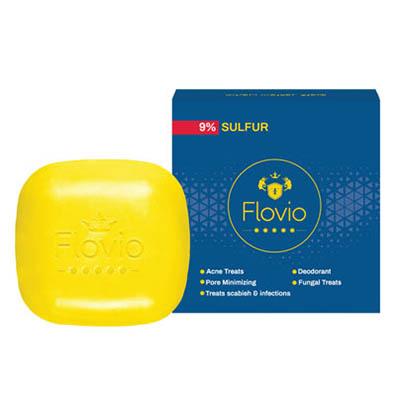 صابون آنتی باکتریال گوگرد فلویو Flovio Zero Bacterial Sulfur Soap 100 gr