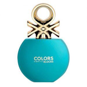 عطر و ادکلن ( ادو تویلت) زنانه بنتون مدل کالرز دی بنتن بلاک بلو Benetton Colors de Benetton Blocks Blue Eau De Toilette for Women 80 ml