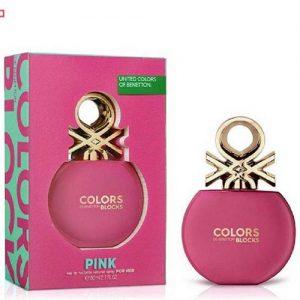 ادکلن زنانه بنتون مدل Colors de Benetton Blocks Pink حجم 80mL