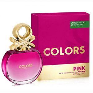 ادکلن زنانه بنتون مدل Colors de Benetton Pink حجم 80mL