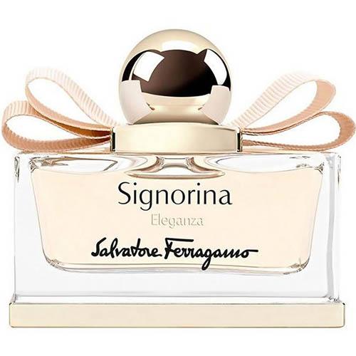 عطر و ادکلن ( ادو پرفیوم ) زنانه سالواتوره فراگامو مدل سیگنورینا الگانزا Salvatore Ferragamo Signorina Eleganza Eau De Parfum for Women 100 mL