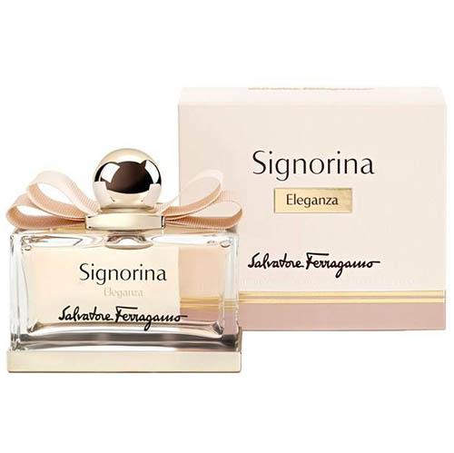 عطر و ادکلن ( ادو پرفیوم ) زنانه سالواتوره فراگامو مدل سیگنورینا الگانزا Salvatore Ferragamo Signorina Eleganza Eau De Parfum for Women 100mL