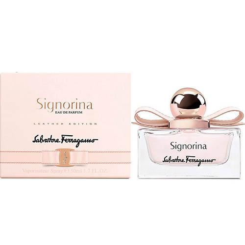 عطر و ادکلن ( ادو پرفیوم ) زنانه سالواتوره فراگامو مدل سیگنورینا Salvatore Ferragamo Signorina Eau De Parfum for Women 100mL