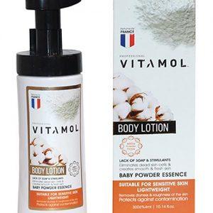لوسیون بدن مدل baby powder essence ویتامول
