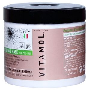 ماسک مو داخل حمام موهای رنگ شده کراتین ویتامول