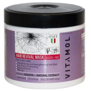 ماسک مو مناسب موهای فر و مجعد دار ویتامول