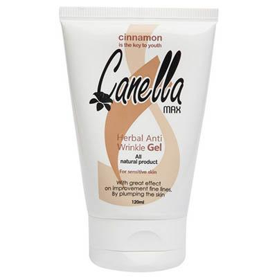 ژل ضد چروک گیاهی مناسب پوست های حساس کنلامکس Canella Max Herbal Anti Wrinkle Gel for Sensative Skin 120 ml