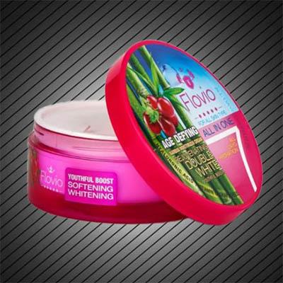 کرم روشن کننده و ضد پیری فلویو فلوویو Flovio Age Defying Bamboo Moisturizing Cream (Rejuvenating Double White) 120 gr