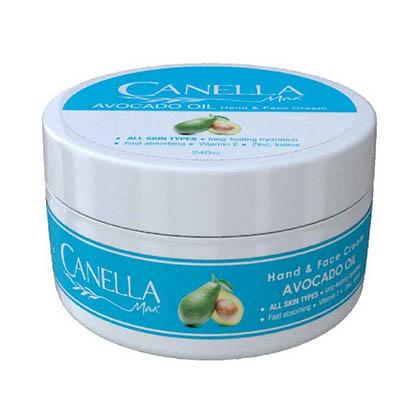 کرم مرطوب کننده کاسه ای آووکادو کنلامکس Canella Max Hand and Face Avocado Oil Cream 240 ml