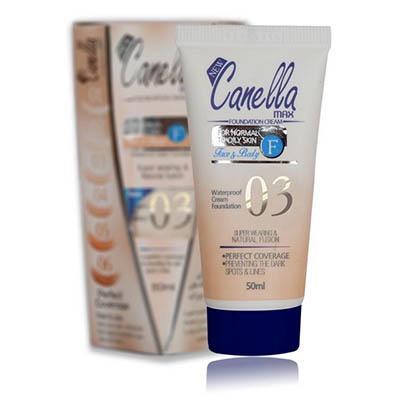 کرم پودر ضدآب شماره 03 کنلامکس Canella Max WaterProof Foundation Cream Number Three 50 ml