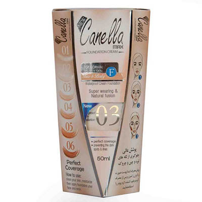 کرم پودر ضدآب شماره 03 کنلامکس Canella Max WaterProof Foundation Cream Number Three 50