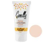 کرم پودر ضدآفتاب ضدآب بژ متوسط کنلامکس Canella Max Herbal SunScreen Cream Nomral to Oily Skin 50 ml