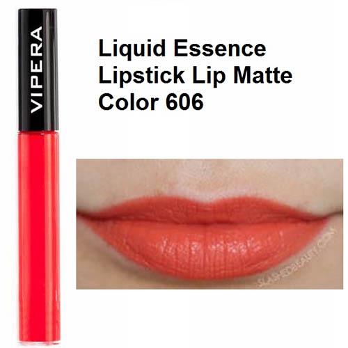 رژ لب مایع مات ویپرا مدل اسنس شماره ششصد و شش Vipera Essence Matt Liquid Lipstick 606