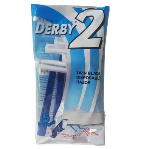 تیغ خودتراش اصلاح مو ( ژیلت ) دربی 2 لبه پاکتی 5 عددی Derby 2 Blade Shave Blade Pack Of 5