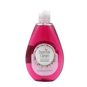 شامپو بدن خوشبو کننده و ضدتعریق عصاره شکوفه گیلاس درماکلین