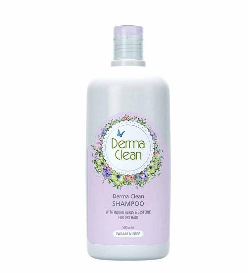 شامپو مخصوص موهای خشک عصاره گیاهان هندی و سیستئین dermacline