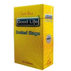 کاندوم گودلایف مدل د سریاتد استیج لاوباکس کد GO02 Good Life LoveBox Series Candom DOTTED STAGE Pack Of 12
