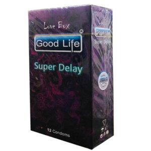 کاندوم گودلایف مدل سوپر دیلی سری لاوباکس کد GO10 Good Life LoveBox Series Candom SUPER DELAY Pack Of 12