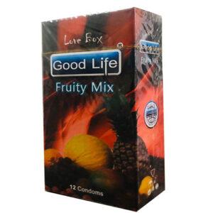 کاندوم گودلایف مدل فروتی میکس سری لاوباکس کد GO03 Good Life LoveBox Series Candom FRUITY MIX Pack Of 12