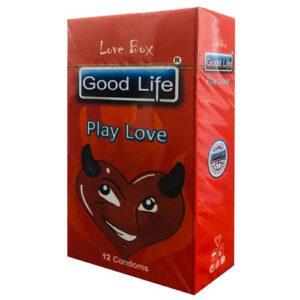 کاندوم گودلایف مدل پلی لاو سری لاوباکس کد GO01 Good Life LoveBox Series Candom Play love Pack Of 12