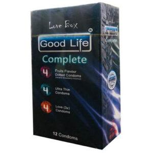 کاندوم گودلایف مدل کامپلیت سری لاو باکس Good Life LoveBox Series Candom Complete Pack Of 12